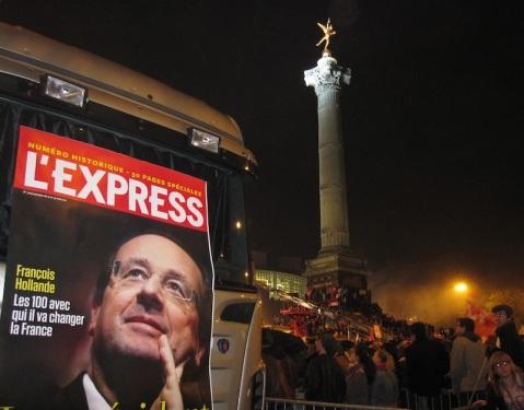6 mai 2012, Hollande, président, France, Bastille, éléctions présidentielles, PS